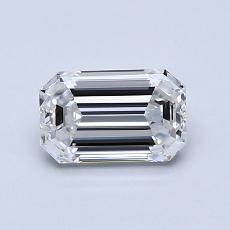 0.91 Carat Esmeralda Diamond Muy buena D VVS1