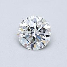 0.50-Carat Round Diamond Ideal E IF