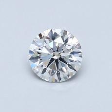 0.50 Carat 圓形 Diamond 理想 F SI1