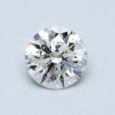 0.80-Carat Round Diamond Ideal J VS1