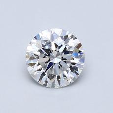 0,75-Carat Round Diamond Ideal E VS1