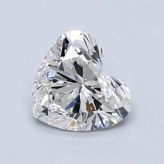 1.00-Carat Heart Diamond Very Good G SI1