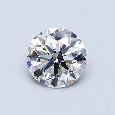 0.73-Carat Round Diamond Ideal F VVS2
