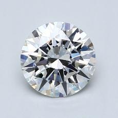 1.02-Carat Round Diamond Ideal H VVS2