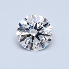 0.70-Carat Round Diamond Ideal E VVS1