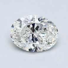 1,00-Carat Oval Diamond Very Good G VS1