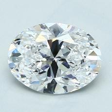 2.01 Carat 椭圆形 Diamond 非常好 D VS1