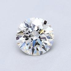 0.75 Carat 圆形 Diamond 理想 F VVS2