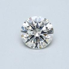 0.50 Carat 圓形 Diamond 理想 H VS2