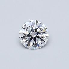 0,37 Carat Rond Diamond Idéale Astor D VVS2
