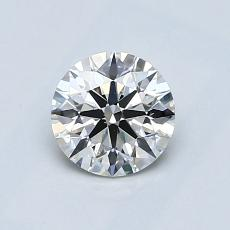 0.76-Carat Round Diamond Ideal H SI1