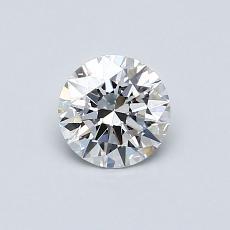 0,55-Carat Round Diamond Ideal D IF