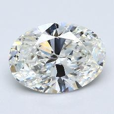 Piedra recomendada 3: Diamantes de talla ovalada de 2.52 quilates
