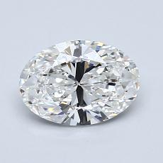 1.03-Carat Oval Diamond Very Good F IF