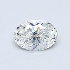 0.51-Carat Oval Diamond Very Good E VVS2