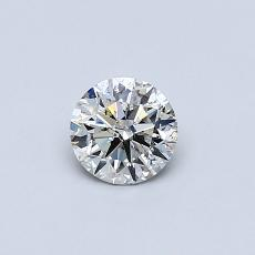 0,41-Carat Round Diamond Ideal I SI2