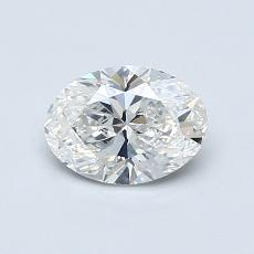 0.72 Carat 橢圓形 Diamond 非常好 G SI1