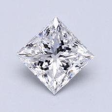 推荐宝石 4:1.02 克拉公主方形钻石