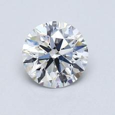 0.90-Carat Round Diamond Ideal F VS1