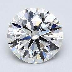 2.04-Carat Round Diamond Ideal E VS2