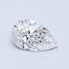 0.52-Carat Pear Diamond Very Good D VVS1