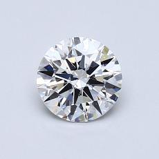 0.77 Carat 圆形 Diamond 理想 E SI1