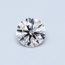 0.46-Carat Round Diamond Ideal H VS1