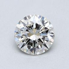 0.75-Carat Round Diamond Ideal I VS2