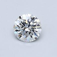 0.60-Carat Round Diamond Ideal D VVS2