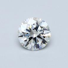 0.53 Carat Redondo Diamond Ideal D VVS1