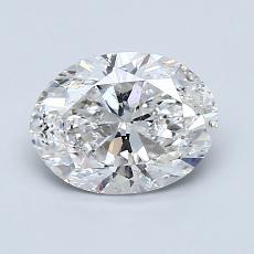 1.20-Carat Oval Diamond Very Good F SI2