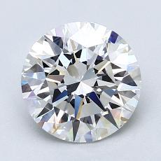 2.03-Carat Round Diamond Ideal F VS1