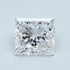 1.70 Carat 公主方形 Diamond 非常好 D VS1