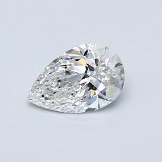 0.50-Carat Pear Diamond Very Good E VVS1