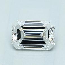 Piedra recomendada 2: Diamante de talla esmeralda de 0.90 quilates