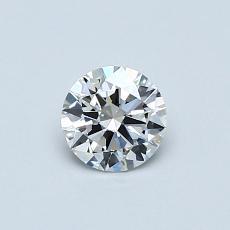 目标宝石:0.42克拉圆形切割钻石