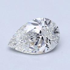 1.00-Carat Pear Diamond Very Good G VS1