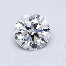 0.73-Carat Round Diamond Ideal E VS1