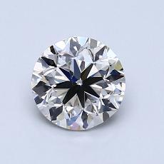1.00 Carat 圆形 Diamond 非常好 H SI1