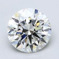 2,01 Carat Rond Diamond Idéale I VS1