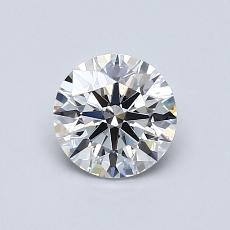 0.81-Carat Round Diamond ASTOR D VVS2