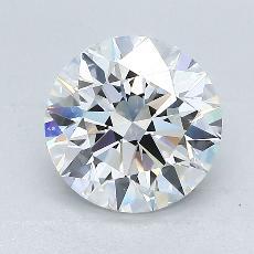 2,01-Carat Round Diamond Ideal E VS2