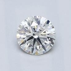 0.80 Carat 圓形 Diamond 理想 H VS2