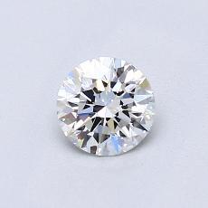 0.51 Carat 圆形 Diamond 理想 G IF