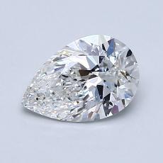1.01-Carat Pear Diamond Very Good F SI1