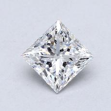 0.75-Carat Princess Diamond Very Good D VVS1