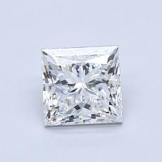 0.90-Carat Princess Diamond Very Good F VVS2