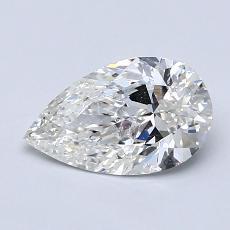 1.00-Carat Pear Diamond Very Good I SI2