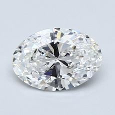 推荐宝石 2:1.08克拉椭圆形切割钻石