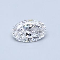 0.43 Carat 椭圆形 Diamond 非常好 D VVS1